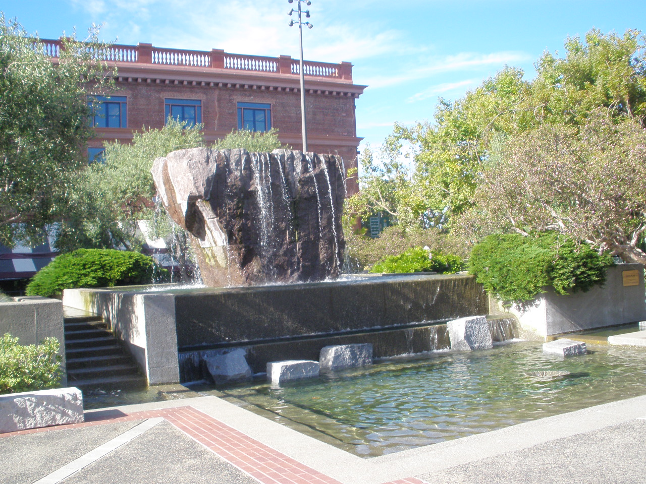 Levi's Plaza fountain